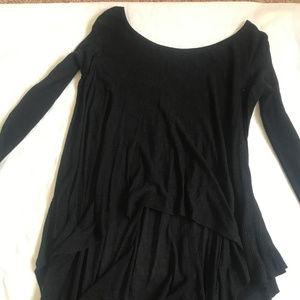 black lululemon asymetrical sweater